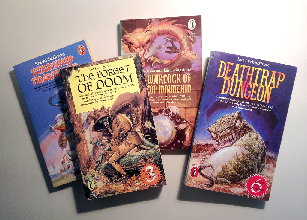 Fighting Fantasy books by Steve Jackson and Ian Livingstone